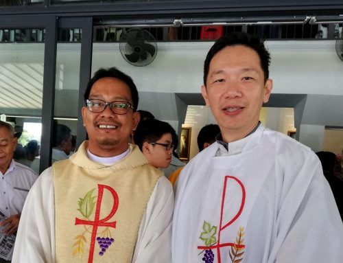 Newly ordained Fr John Direk celebrates Vocation Sunday Mass at BSC