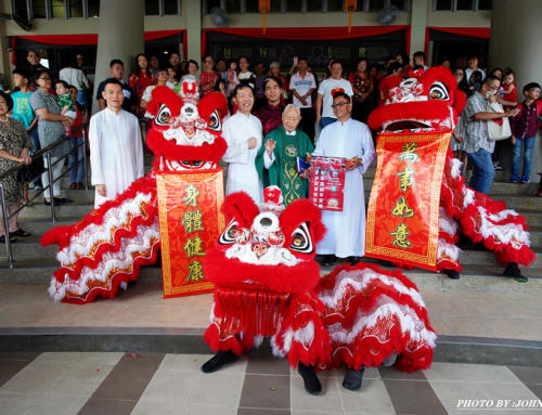 SJPS Lion Dance Troupe brings joy and prosperity to parishioners after Sunday Mass