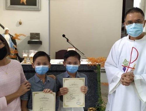 Parents express thanks and relief at First Holy Communion for their children